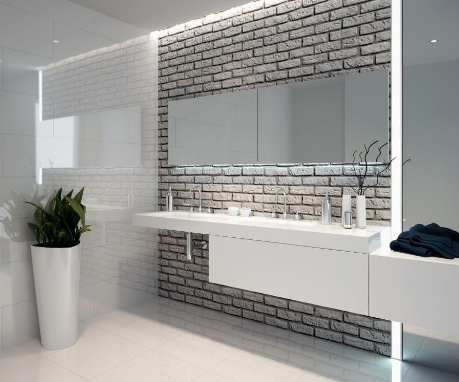 cegła dekoracyjna na ścianę w łazience m-ki LA DECOR