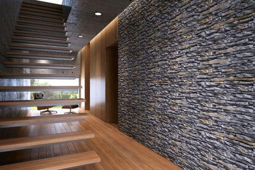 Kamień Dekoracyjny na ścianę w salonie LA DECOR