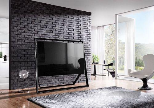 czarna cegła dekoracyjna z gotowa fugą INES - firmy LA DECOR